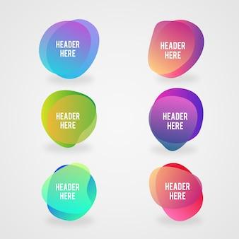 Płaskie kolorowe ramki gradientu