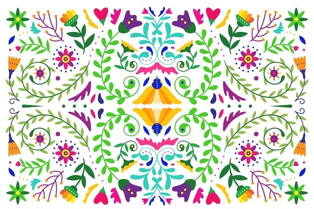 Płaskie kolorowe tapety meksykańskie