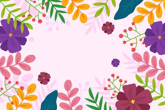 Płaskie kolorowe tło wiosna