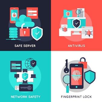 Płaskie kompozycje dotyczące ochrony danych