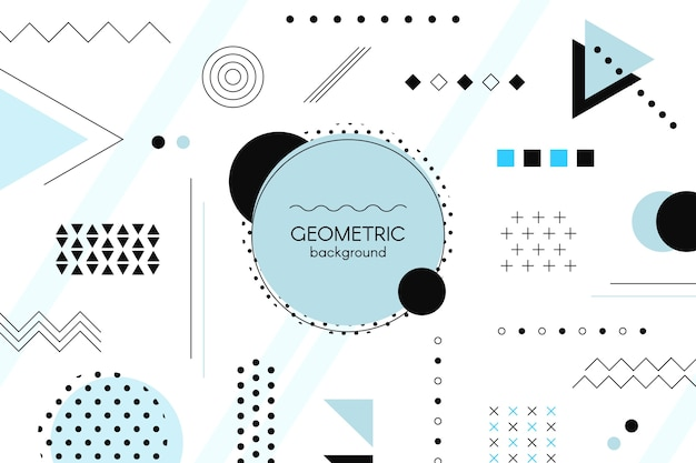 Płaskie kształty geometryczne tło