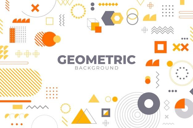 Płaskie Kształty Geometryczne Tło Premium Wektorów