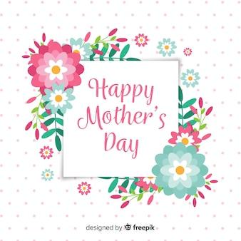 Płaskie kwiaty matki dzień tło