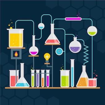 Płaskie laboratorium naukowe