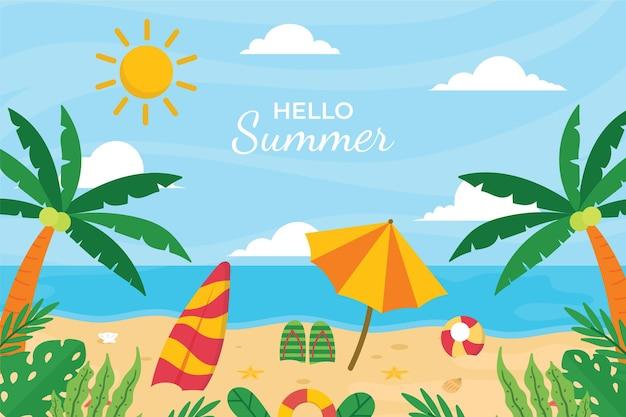 Płaskie lato ilustracja