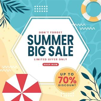Płaskie lato sprzedaż ilustracja