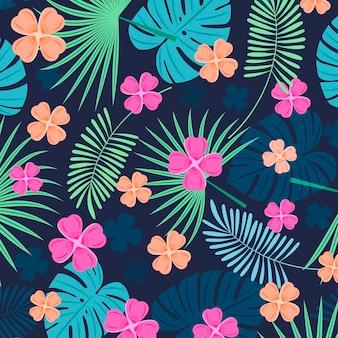 Płaskie lato tropikalny wzór