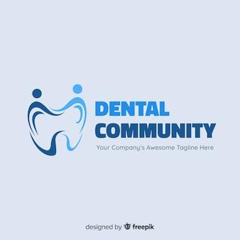 Płaskie logo kliniki stomatologicznej