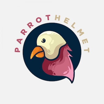 Płaskie logo papugi