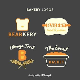 Płaskie logo piekarni