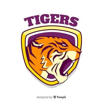 Płaskie logo tygrysa