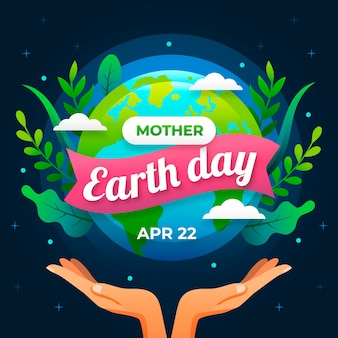 Płaskie matka dzień ziemi tło