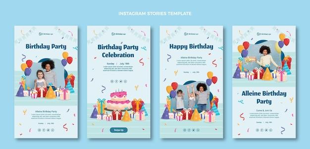 Płaskie Minimalne Historie Urodzinowe Darmowych Wektorów