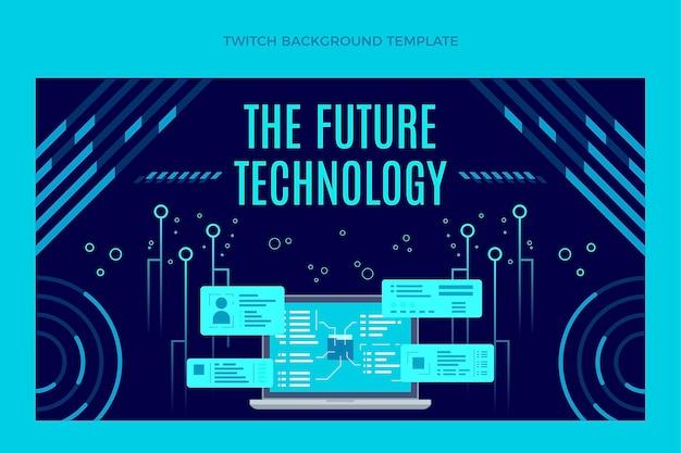 Płaskie minimalne tło drgania technologii