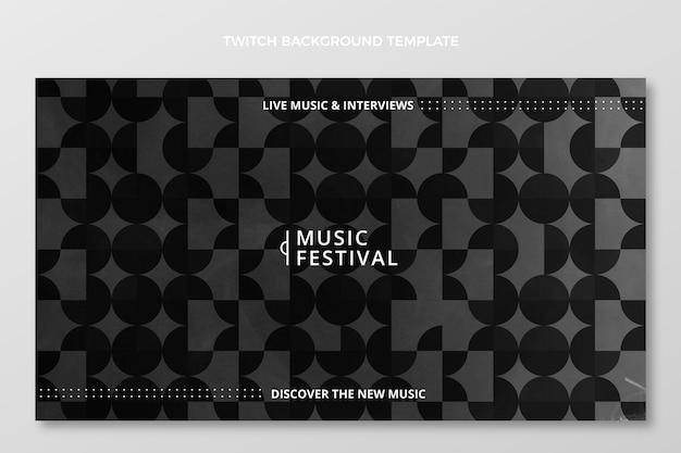 Płaskie minimalne tło festiwalu muzycznego
