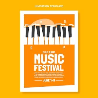 Płaskie minimalne zaproszenie na festiwal muzyczny