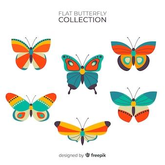 Płaskie motyle latające tło