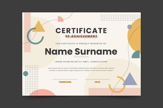 Płaskie nowoczesny certyfikat szablonu osiągnięcia