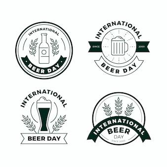 Płaskie odznaki międzynarodowego dnia piwa