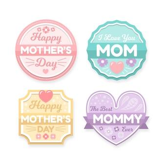 Płaskie odznaki na dzień matki