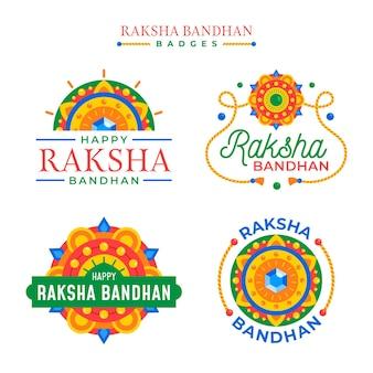 Płaskie odznaki raksha bandhan