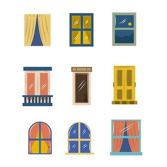 Płaskie okno wektor