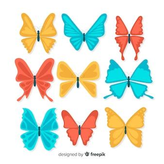 Płaskie opakowanie motyla