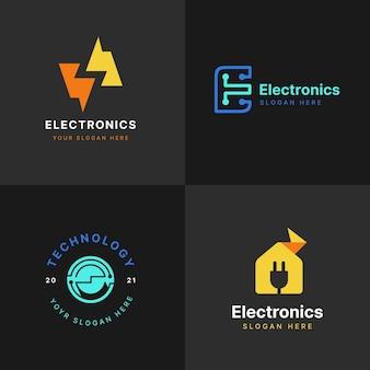 Płaskie opakowanie z logo elektroniki