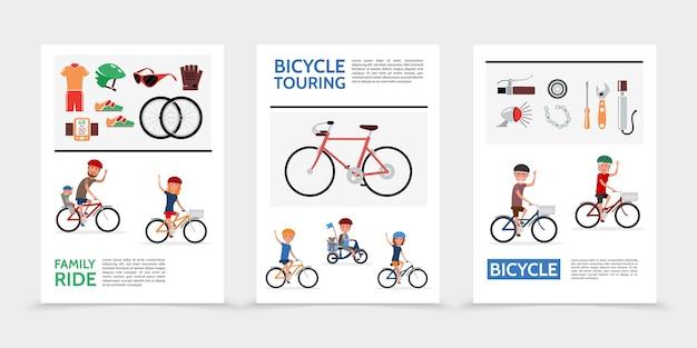 Płaskie plakaty rowerowe