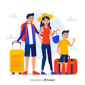 Płaskie podróże rodzinne