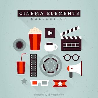 Płaskie podstawowe wyposażenie kina