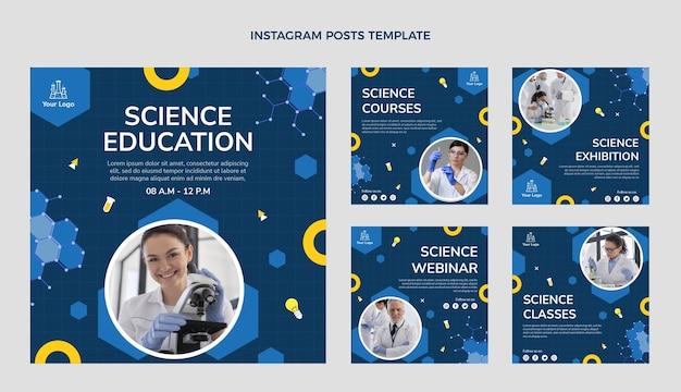 Płaskie posty naukowe na instagramie