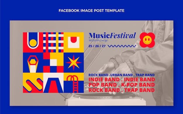Płaskie posty z festiwalu muzycznego na instagramie