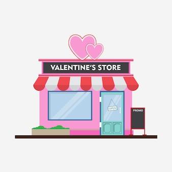 Płaskie projektowanie valentine market shop