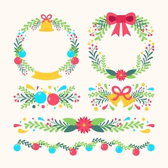 Płaskie ramki i obramowania świąteczne