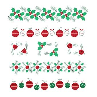 Płaskie ramki świąteczne i obramowania