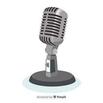Płaskie realistyczne tło mikrofonu