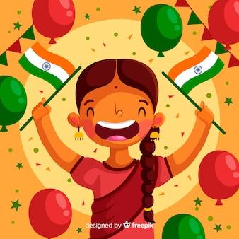Płaskie republiki indyjskiej dzień tło