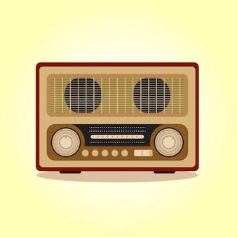 Płaskie stare radio