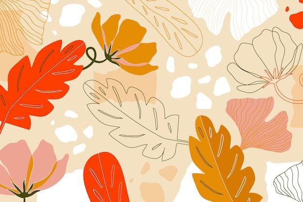 Płaskie streszczenie tapetą z motywem kwiatowym