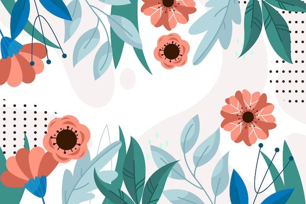 Płaskie streszczenie tło kwiatowy