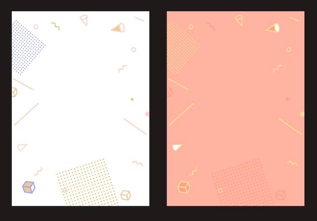 Płaskie styl streszczenie szablon geometryczny wzór na baner