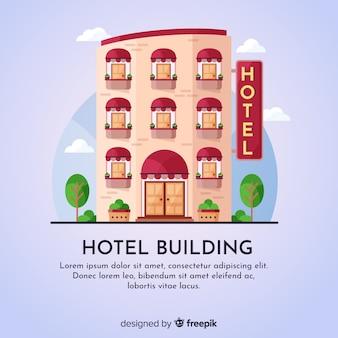 Płaskie tło budynku hotelu