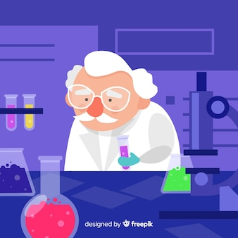 Płaskie tło chemii