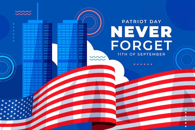 Płaskie tło dnia patrioty 9.11