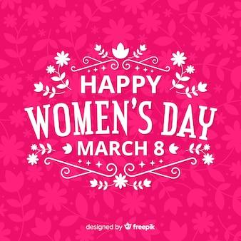 Płaskie tło dzień kobiet