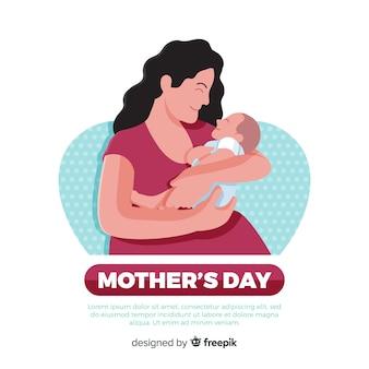 Płaskie tło dzień matki