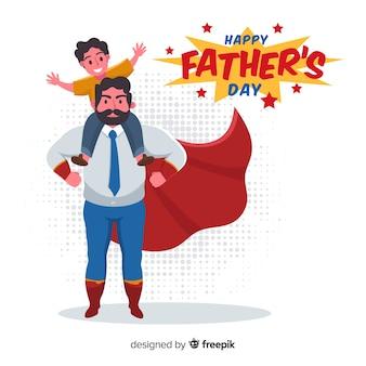 Płaskie tło dzień ojca