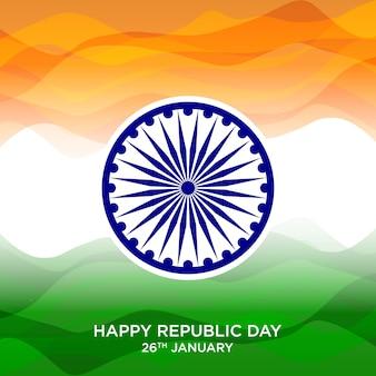 Płaskie tło dzień republiki indii