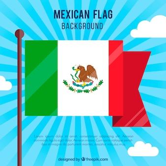 Płaskie tło flaga meksyku